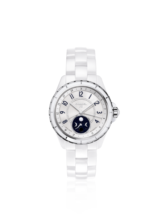 Reloj blanco Chanel J12 Moonphase
