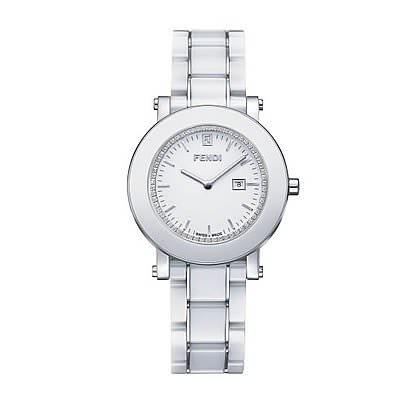 Reloj blanco de mujer marca Fendi