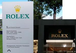 Edificio de la marca de relojes suizos Rolex