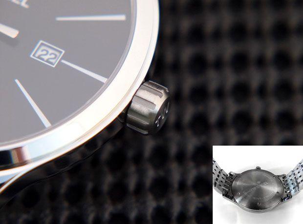 Corona y parte posterior reloj TW Steel Slim