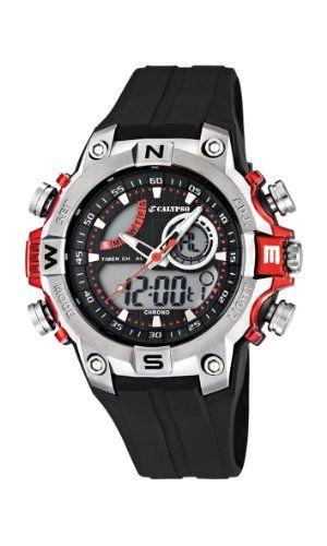 Reloj Calypso en negro y rojo