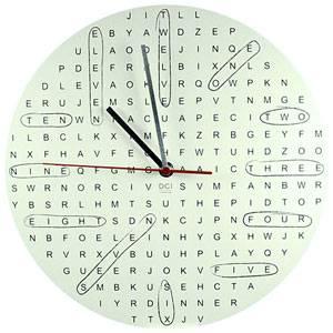 Reloj sopa de letras