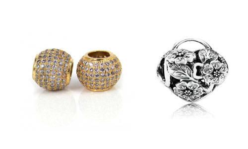 abalorio de oro y plata