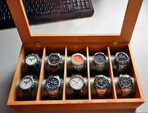 caja para relojes de madera