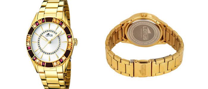reloj lotus mujer dorado