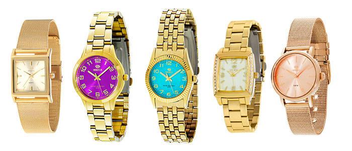 relojes dorados marea